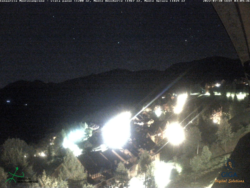 Webcam panorama verso Monte Beccherie
